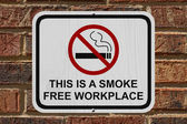 Smoking Free Workplace Sign — Stock Photo