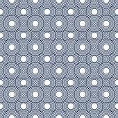 Navy Blue and White Circles Tiles Pattern Repeat Background — Stock Photo