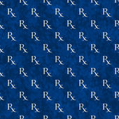 Blue and White Prescription symbol Pattern Repeat Background — Stock Photo