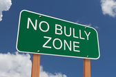 No Bully Zone Sign — Stock fotografie