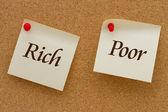 Rich versus Poor — Stock Photo