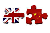 England working with China — Stock Photo