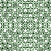 Green and White Circles Tiles Pattern Repeat Background — Stock Photo