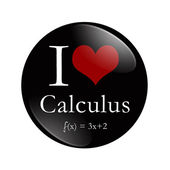 I Love Calculus button — Stock Photo