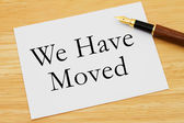 We Have Moved Message — Stock Photo