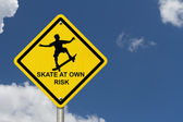 Skateboarding Warning Sign — Stock Photo