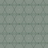 Green and White Hexagon Tiles Pattern Repeat Background — Stock Photo