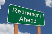 Retirement Ahead Sign — Stock Photo