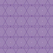 Purple and White Hexagon Tiles Pattern Repeat Background — Stock Photo