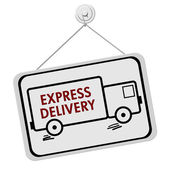 Express Delivery Sign — Stock Photo