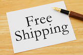 Free Shipping Available — Stock Photo