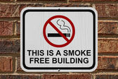 Smoking Free Building Sign — Stock Photo