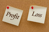 Profit versus Loss — Stock Photo