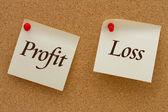 Profit versus Loss — Stock Photo