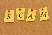 Scam Notice — Stock Photo