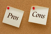 Pros and Cons — Stock Photo