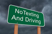 No Texting and Driving Sign — Stock Photo