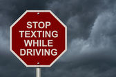 Stop Texting While Driving Sign — Stock Photo