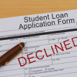 Student Loan Application Form — Stock Photo #47827449