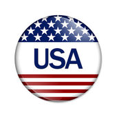 An USA Button — Stock Photo