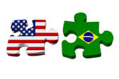 US working with Brazil — Stock Photo