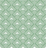 Green and White Diamonds Tiles Pattern Repeat Background — Stock Photo