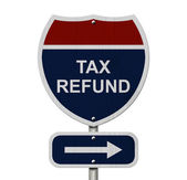 Tax Refund this way — Stock Photo