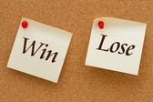 Win versus Lose — Stock Photo