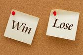 Win versus Lose — Stock Photo