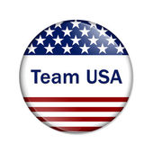 Team USA Button — Stock Photo