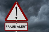 Fraud Alert Caution Sign — Stock Photo