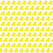 Yellow Ducks Pattern Repeat Background — Stock Photo
