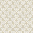 Beige and White Chevron Hearts Pattern Repeat Background — Stock Photo #48537807