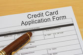 Credit Card Application Form — Stock Photo