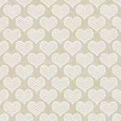 Beige and White Chevron Hearts Pattern Repeat Background — Stock Photo