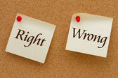 Right versus Wrong — 图库照片