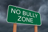 No Bully Zone Sign — Stock Photo
