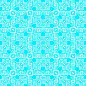 Teal and White Circles Tiles Pattern Repeat Background — Stock Photo