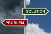 Problem versus Solution — Stock Photo