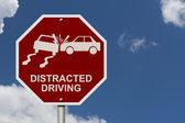 Inga distraherad driving tecken — Stockfoto