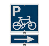 Bike Parking Sign — Stock Photo