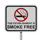 Smoking Free Establishment Sign — Stock Photo
