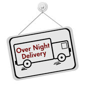 Over Night Delivery Sign — Stock Photo