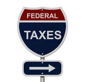 Federal Taxes this way — Stockfoto