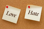 Love versus Hate — Stock Photo