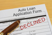 Auto Loan Application Form — Stock Photo