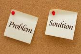 Problemas e soluções — Foto Stock