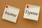 Income versus Expense — Stock Photo