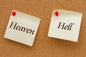 El cielo contra el infierno — Foto de Stock