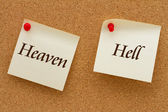 Heaven versus Hell — Stock Photo